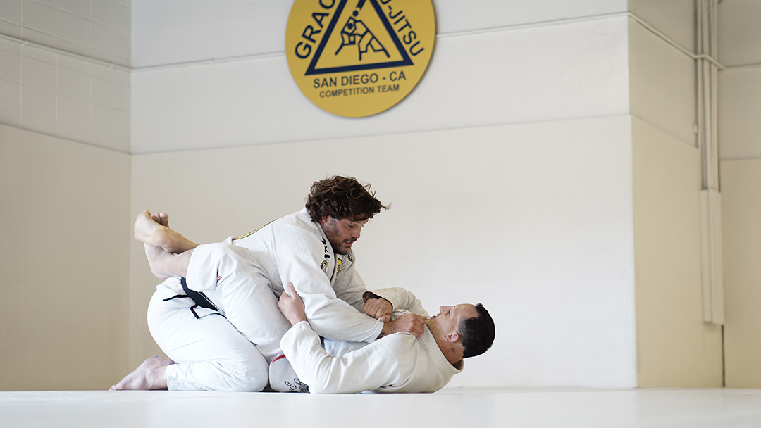 Closed guard two on one