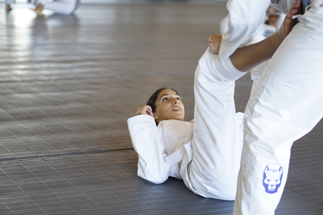 Student practicing guard
